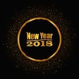 Νέο έτος 2018 Ο χρυσός ακτινοβολεί υπόβαθρο επίσης corel σύρετε το διάνυσμα απεικόνισης Στοκ εικόνες με δικαίωμα ελεύθερης χρήσης