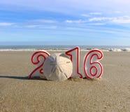 νέο έτος παραλιών Στοκ Εικόνες