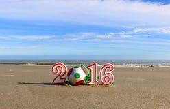 νέο έτος παραλιών Στοκ φωτογραφία με δικαίωμα ελεύθερης χρήσης
