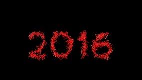 Νέο έτος 2016 που γίνεται από τις σημειώσεις Στοκ Εικόνες