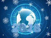 Νέο έτος που χαιρετά το αφηρημένο υπόβαθρο Στοκ Φωτογραφία