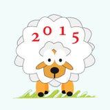 Νέο έτος 2015 προβάτων Στοκ εικόνες με δικαίωμα ελεύθερης χρήσης