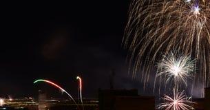 νέο έτος πυροτεχνημάτων Στοκ φωτογραφία με δικαίωμα ελεύθερης χρήσης