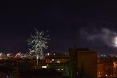 νέο έτος πυροτεχνημάτων Στοκ εικόνα με δικαίωμα ελεύθερης χρήσης