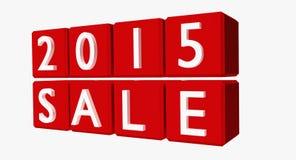 Νέο έτος 2015 πωλήσεις Στοκ Εικόνες