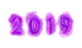 2019 νέο έτος, ροζ αριθμών διανυσματική απεικόνιση