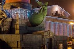Νέο έτος σε Άγιο Πετρούπολη νησί vasilievsky Στοκ εικόνα με δικαίωμα ελεύθερης χρήσης