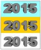 Νέο έτος σε τρισδιάστατο Στοκ εικόνες με δικαίωμα ελεύθερης χρήσης