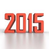 2015 νέο έτος σε τρισδιάστατο Στοκ Φωτογραφίες