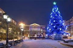 Νέο έτος στα τετράγωνα της Μόσχας Στοκ Φωτογραφία