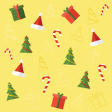 νέο έτος στοιχείων Πρότυπο Χριστουγέννων Απεικόνιση αποθεμάτων