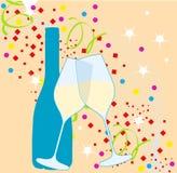 νέο έτος συμβαλλόμενων μ&epsilon Στοκ Εικόνα