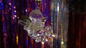 νέο έτος Σύνθεση Χριστουγέννων των μανταρινιών, των κλάδων χριστουγεννιάτικων δέντρων και του αγγέλου Στοκ φωτογραφία με δικαίωμα ελεύθερης χρήσης