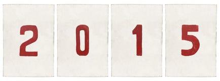 Νέο έτος 2015 της αίγας Στοκ Εικόνες
