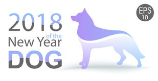 Νέο έτος του σκυλιού 2018 κινεζικό νέο έτος ανασκόπηση καλή χρονιά διάνυσμα χρήσης αποθεμάτων απεικόνισης σχεδίου σας Στοκ φωτογραφία με δικαίωμα ελεύθερης χρήσης