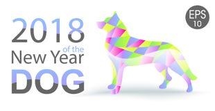 Νέο έτος του σκυλιού 2018 κινεζικό νέο έτος ανασκόπηση καλή χρονιά διάνυσμα χρήσης αποθεμάτων απεικόνισης σχεδίου σας Στοκ εικόνες με δικαίωμα ελεύθερης χρήσης