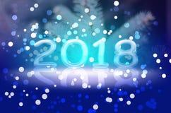 Νέο έτος-έτος του 2018 του σκυλιού Στοκ Εικόνες
