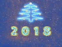 Νέο έτος του 2018 - υπόβαθρο διακοπών Απεικόνιση αποθεμάτων