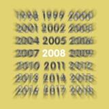νέο έτος του 2008 Στοκ φωτογραφίες με δικαίωμα ελεύθερης χρήσης