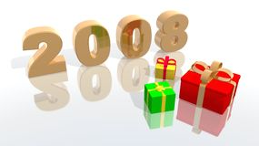 νέο έτος του 2008 Στοκ Εικόνες