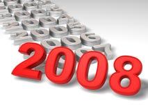 νέο έτος του 2008 απεικόνιση αποθεμάτων