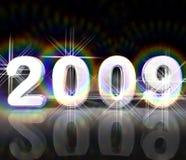 νέο έτος του 2009 Στοκ Εικόνες
