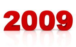 νέο έτος του 2009 Στοκ εικόνα με δικαίωμα ελεύθερης χρήσης