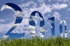 νέο έτος του 2010 Στοκ Εικόνα