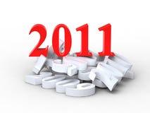 νέο έτος του 2011 Στοκ Εικόνες