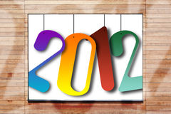 νέο έτος του 2012 Στοκ Εικόνα