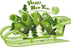 νέο έτος του 2012 Στοκ Φωτογραφίες