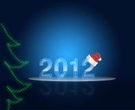 νέο έτος του 2012 Στοκ εικόνα με δικαίωμα ελεύθερης χρήσης