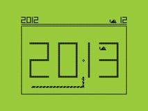Νέο έτος του 2013 - παιχνίδι φιδιών ελεύθερη απεικόνιση δικαιώματος