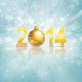 Νέο έτος του 2014 Στοκ εικόνες με δικαίωμα ελεύθερης χρήσης