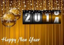 νέο έτος του 2014 Στοκ Εικόνες