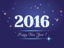 νέο έτος του 2016 Στοκ φωτογραφία με δικαίωμα ελεύθερης χρήσης