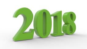 Νέο έτος 2018 τρισδιάστατο Στοκ Εικόνα