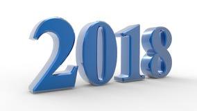 Νέο έτος 2018 τρισδιάστατο Στοκ εικόνα με δικαίωμα ελεύθερης χρήσης