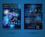 Νέο έτος φυλλάδιων ελεύθερη απεικόνιση δικαιώματος