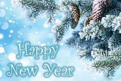 νέο έτος χαιρετισμών Στοκ Φωτογραφίες