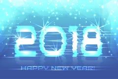 2018 νέο έτος! Χειμερινό υπόβαθρο αφισών Στοκ εικόνα με δικαίωμα ελεύθερης χρήσης