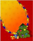 νέο έτος Χριστουγέννων αν&alpha απεικόνιση αποθεμάτων
