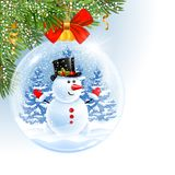 νέο έτος Χριστουγέννων σφ&alph στοκ εικόνα