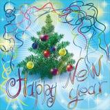 νέο έτος Χριστουγέννων Στοκ Εικόνα