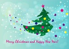Νέο έτος χριστουγεννιάτικων δέντρων Στοκ Εικόνα