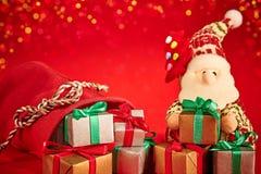 Νέο έτος 2016 Χριστούγεννα εύθυμα Άγιος Βασίλης και Στοκ εικόνα με δικαίωμα ελεύθερης χρήσης