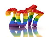 Νέο έτος 2017 χρώματος υπερηφάνειας CGay Στοκ εικόνα με δικαίωμα ελεύθερης χρήσης