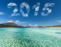 Νέο έτος 2015 ψηφία Στοκ Φωτογραφίες