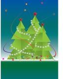 νέο έτος δέντρων γουνών Στοκ Εικόνες