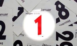 Νέο έτος 1η Ιανουαρίου Στοκ εικόνες με δικαίωμα ελεύθερης χρήσης